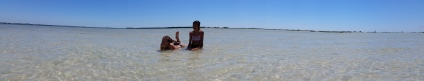 Kaleigh and Allison exploring the sand flats